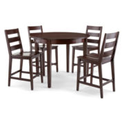 Dining Possibilities 5-pc. Counter-Height Round Dining Set