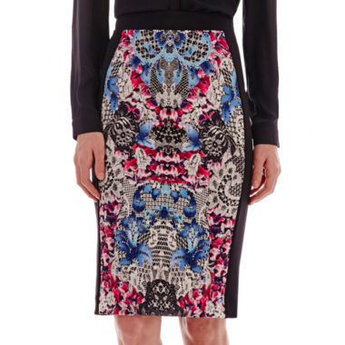 nicole by Nicole Miller® Print Pencil Skirt  found at @JCPenney