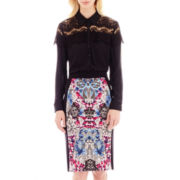 nicole by Nicole Miller® Lace-Trim Blouse or Print Pencil Skirt