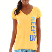 Xersion™ Short-Sleeve High-Low Graphic Tee