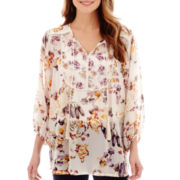 i jeans by Buffalo 3/4-Sleeve Tie-Neck Peasant Blouse