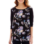 i jeans by Buffalo Long-Sleeve Floral Screen Tee
