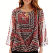 Alyx® 3/4-Sleeve Print Bubble Top