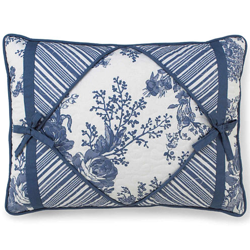 Toile Garden Oblong Decorative Pillow