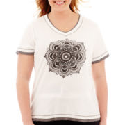 Made For Life™ Short-Sleeve Layered Medallion Tee - Plus