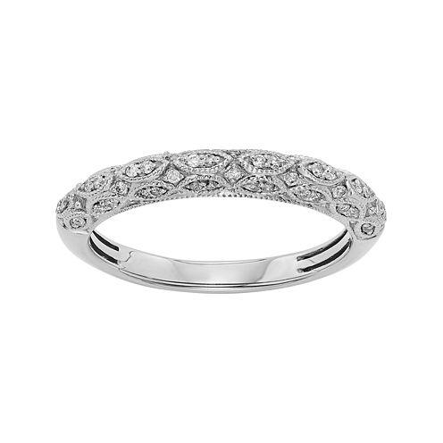 1/5 CT. T.W. Certified Diamond 14K White Gold Wedding Band