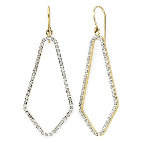 Diamond Fascination™ 14K Yellow Gold Open Geometric Earrings