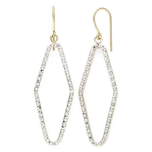 Diamond Fascination™ 14K Yellow Gold Open Geometric Drop Earrings