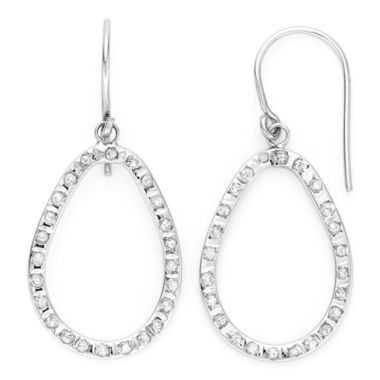 jcpenney.com | Diamond Fascination™ 14K White Gold Open Teardrop Earrings