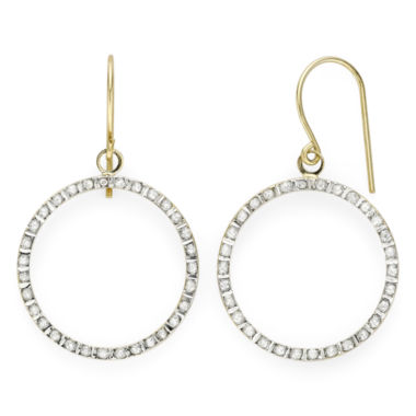 jcpenney.com | Diamond Fascination™ 14K Yellow Gold Open Circle Earrings