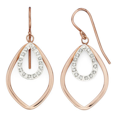 jcpenney.com | Diamond Fascination™ 18K Rose Gold Over Sterling Silver Layered Drop Earrings
