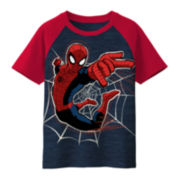 Spider-Man Short-Sleeve Graphic Raglan Tee – Boys 8-20