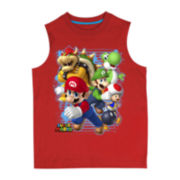 Super Mario Blast Out Graphic Muscle Shirt – Boys 8-20