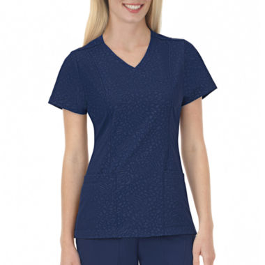 jcpenney.com | Jockey Womens Solid Illusions™ Embossed Scrub Top
