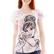 Disney Short-Sleeve Cinderella Floral Tee