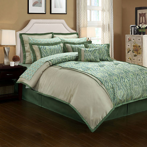 Topaz Ikat 12-pc. Complete Bedding Set with Sheets