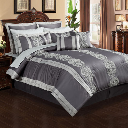 Dynasty 12-pc. Complete Bedding Set with Sheets