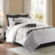 Madison Park Temsia 12-pc. Charmeuse Comforter Set