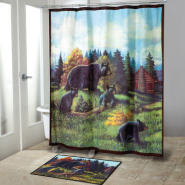 jcpenney.com | Avanti Black Bear Lodge Shower Curtain