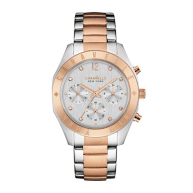 jcpenney.com | Caravelle New York® Womens Boyfriend Chronograph Two-Tone Stainless Steel Bracelet Watch 45L156