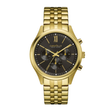jcpenney.com | Caravelle New York® Mens Chronograph Gold-Tone Stainless Steel Watch 44A108