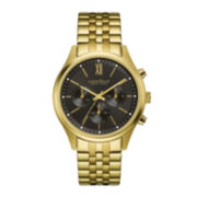 Caravelle New York® Mens Chronograph Gold-Tone Stainless Steel Watch 44A108