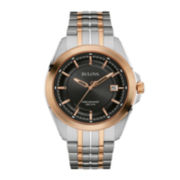 Bulova® UHF Precisionist Mens Two-Tone Stainless Steel Watch 98B268
