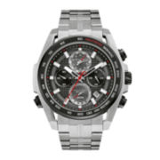 Bulova® UHF Precisionist Mens Stainless Steel Chronograph Watch 98B270