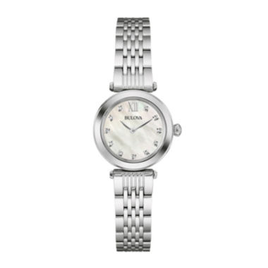 jcpenney.com | Bulova® Womens Diamond-Accent Stainless Steel Bracelet Watch 96P167