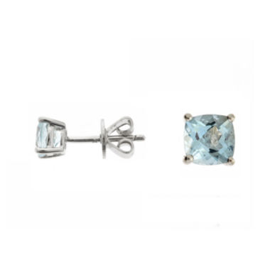 jcpenney.com | LIMITED QUANTITIES  Genuine Aquamarine Sterling Silver Stud Earrings