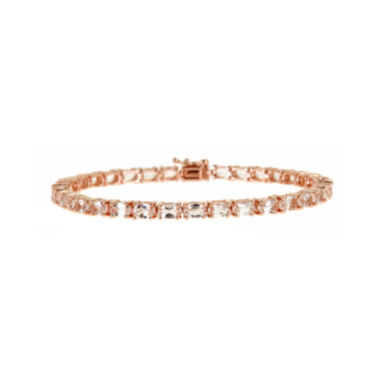 jcpenney.com | LIMITED QUANTITIES  Genuine Morganite 14K Rose Gold Bracelet