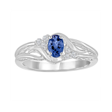 jcpenney.com | Genuine Tanzanite and Lab-Created White Sapphire Sterling Silver Ring