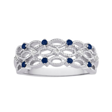 jcpenney.com | I Said Yes™ Genuine Sapphire and Diamond-Accent Platinaire® Band