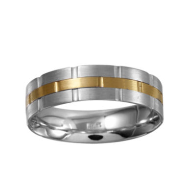 jcpenney.com | Mens 5mm 10K Two-Tone Gold Wedding Band