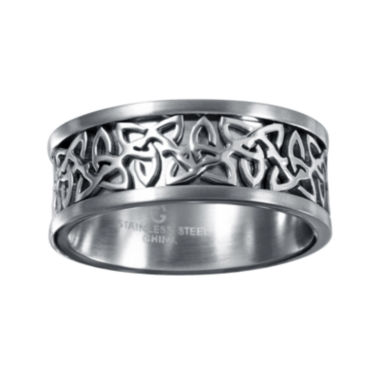 jcpenney.com | Mens 9mm Gray Stainless Steel Celtic Wedding Band