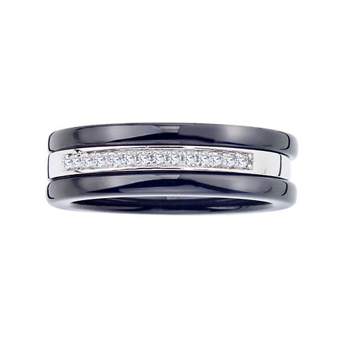 1/10 CT. T.W. Diamond Two-Tone Stackable 3-pc. Wedding Band Set