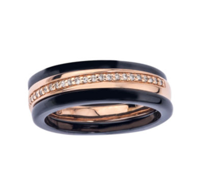 jcpenney.com | 1/8 CT. T.W. Diamond Two-Tone Stackable 3-pc. Wedding Band Set