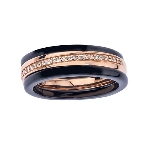 1/8 CT. T.W. Diamond Two-Tone Stackable 3-pc. Wedding Band Set
