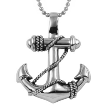 jcpenney.com | Mens Stainless Steel Anchor Pendant Necklace