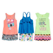 Okie Dokie® Tank, Easy Short, or Bike Short -Toddler Girls 2t-5t