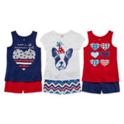 Okie Dokie® Americana Graphic Tee, Tank or Shorts - Toddler Girls 2t-5t
