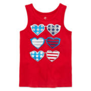 Okie Dokie® Americana Graphic Tank Top - Toddler Girls 2t-5t