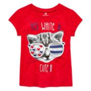 Okie Dokie® Americana Graphic Tee - Preschool Girls 4-6x