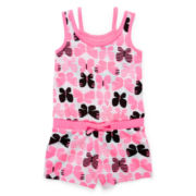 Okie Dokie® Sleeveless Romper - Toddler Girls 2t-5t