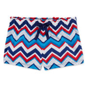 Okie Dokie® Americana Print Shorts - Preschool Girls 4-6x