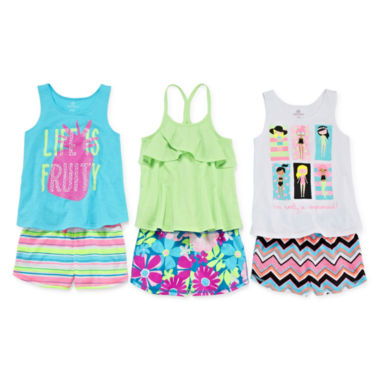 jcpenney.com | Okie Dokie® Trapeze Tank Top, Ruffle Tank Top or Print Shorts - Preschool Girls 4-6x