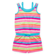 Okie Dokie® Layered-Look Romper - Preschool Girls 4-6x