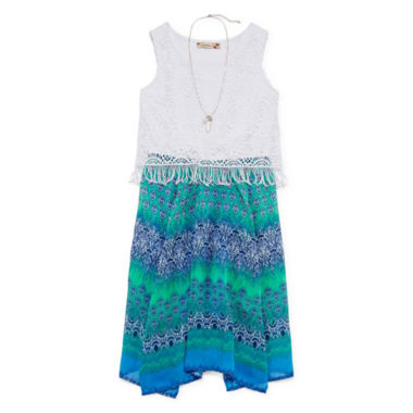 jcpenney.com | Speechless® Aztec-Print Sharkbite Dress with Necklace - Girls 7-16