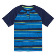 Arizona Short-Sleeve Henley Tee - Boys 8-20 and Husky