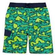 Arizona Comic Sharks Swim Trunk - Toddler Boys 2t-5t